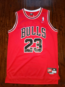 f08ed842562 ... Everything Stitched- New. Retro Michael Jordan Red Bulls Size M Jersey