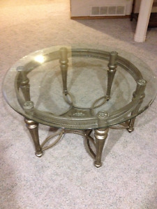 Beautiful Glass top Coffee and End Tables