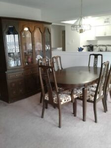 Teak China Cabinet Table And Chairs