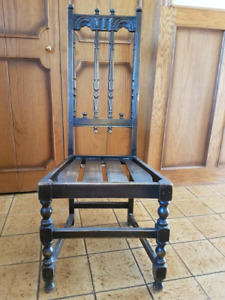 Vintage Ercol Old Colonial Elm High Back Kitchen Dining Chair