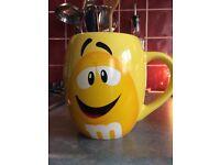 Yellow M&M mug