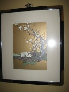 TWO LARGE framed prints (asian inspired)  Price is for BOTH!