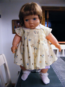 20'' LARGE PLAYMATED FROWNY STRAIGHT HAIR DOLL ORIGINAL