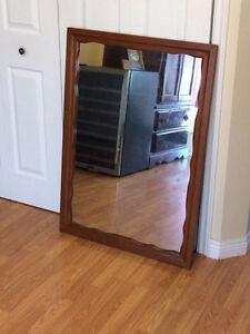 Heavy Solid Wood Mirror