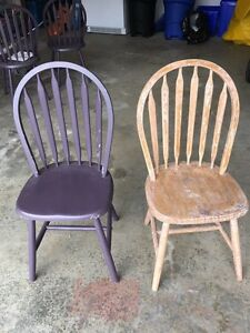 Kitchen chairs wooden set of four