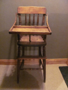 Vintage wooden high chair for decor only $28