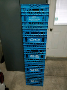 Record milk crates. 5 Old style. $20/each