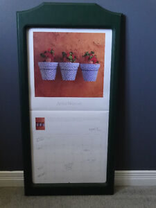 Wooden calendar frame (holds calendar 12 inches by 12 inches) Cornwall Ontario image 1