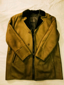 Authenic HS Men's Spanish Napa Shearling Coat XL