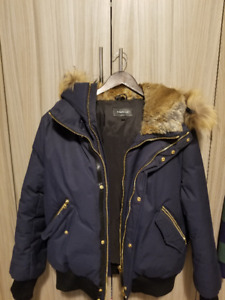 Mackage Winter Jacket Men's; Perfect condition, Blue w/ gold zip