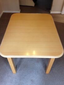 Beech effect dining table, extenable