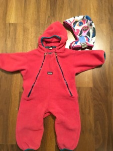 Patagonia Fleece Bunting and Hat - 12M