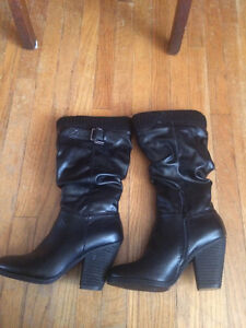 Never Worn Black High Heel Boots Kitchener / Waterloo Kitchener Area image 2