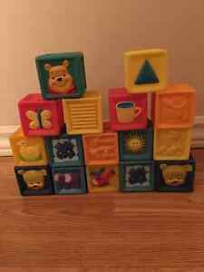 Assorted Set of soft plastic blocks