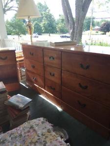 3 piece dresser, bedside table and desk for sale