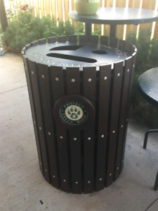 Heavy duty commercial 3 container recycle bin