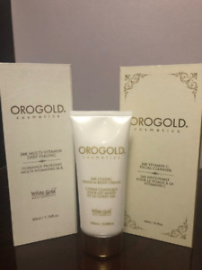 Orogold Trio- 24K Deep Peeling, Hand/Body Cream, Facial Cleanser
