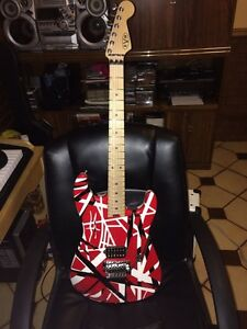 EVH guitar (red, white, black)