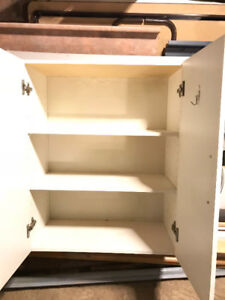 Cabinet storage with 2 doors 2 shelves _ white_ $20