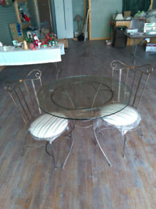 Brand New Wrought Iron Table and Two Chairs