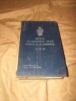 Royal Automobile Guide & Handbook 1939-40