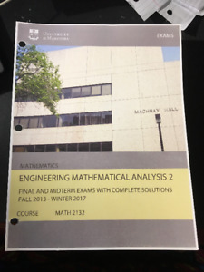 Exam booklet for engineering math 2132
