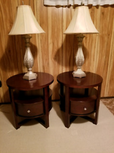 End tables with lamps