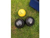 Crown green bowling sets.