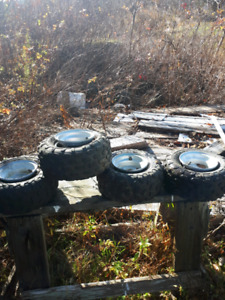 Minnie 4 wheeler tires and rims $100 9024406092