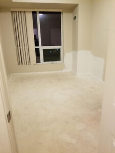 Free  used carpet and under pad in condo.. current on floor..