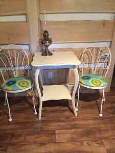Vintage Parlour Table and 2 Parlour Chairs