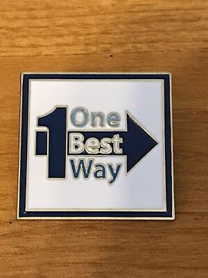 Rare Walmart Lapel Pin One Best Way Spark  Wal-mart Pinback