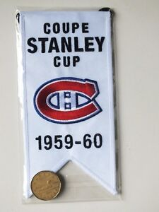 CENTENNIAL STANLEY CUP 1959-60 BANNER MONTREAL CANADIENS HABS Gatineau Ottawa / Gatineau Area image 2
