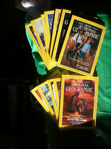 NATIONAL GEOGRAPHIC MAGAZINES 1985 set of 12 (plus more)