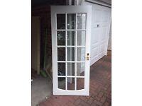 Free internal glazed door