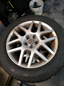 "16"" vw golf mk4 alloys 5x100 with tyres"