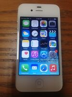 iphone 4s blanc 16 gb unlocked / débarré 180 $ firm / ferme