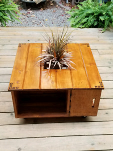 Handmade crate coffee table