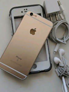 GOLD IPHONE 6S 32GB WITH LIFEPROOF CASE