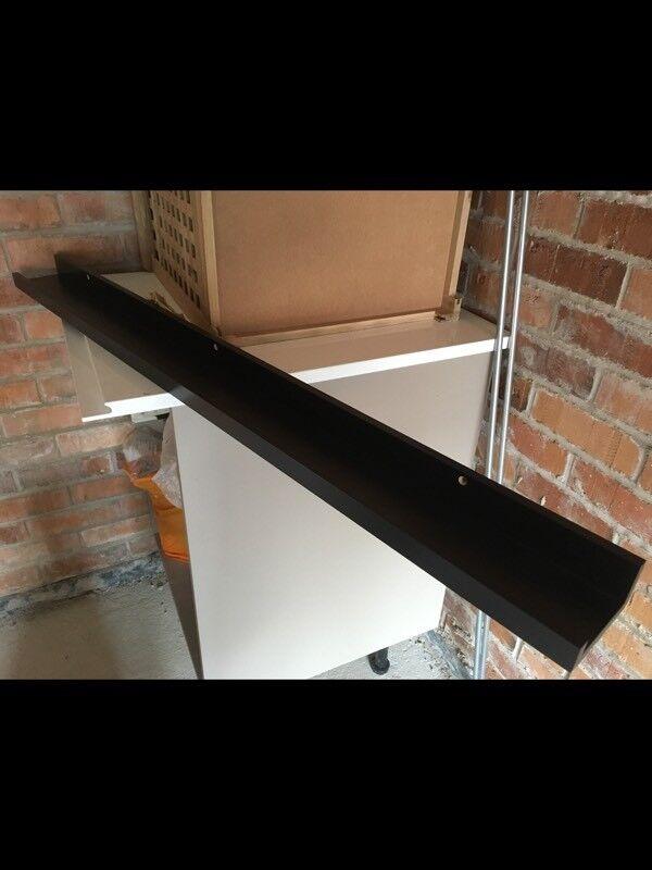 Floating picture shelf - black wood