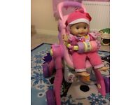 Little Love Vtech Grow With Me 3-In-1 Dolls Pushchair