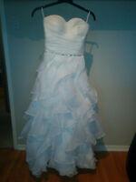Ruffled Chiffon Wedding Dress