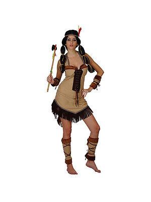 incess Fancy Dress Ladies Red Adult Wild West Costume 6-28 (Pocahontas Fancy Dress Kostüm)