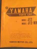 1972 Yamaha MX JT2 Parts List Mini Enduro