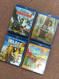 Four (4) children's blu-ray movies