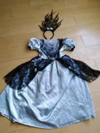 Gothic bride Halloween costume age 8-9 years