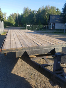 14000 LB rated 8x24 Flat Deck Trailer