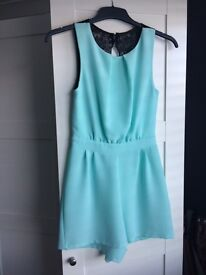 Size 10 mint coloured playsuit only worn once!!