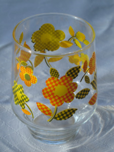 Vintage glass ware from the sixties.  New.