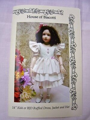 "14"" Kish Chrysalis Pattern for Ruffled Dress, Hat and Jacket"
